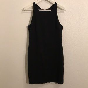 Athleta black romper with built in shelf bra